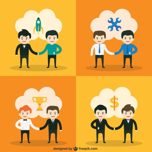626x626 Start Up Deal Vector Free Download