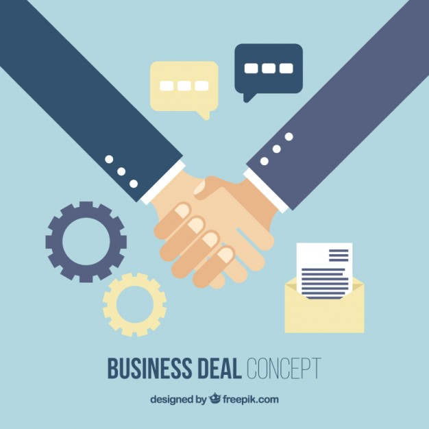 626x626 Business Deal In Flat Design With Elements Vector Free Download