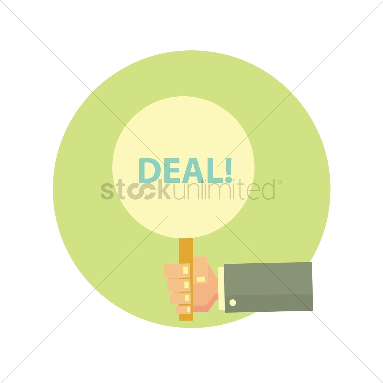 1300x1300 Closed Deal Vector Image