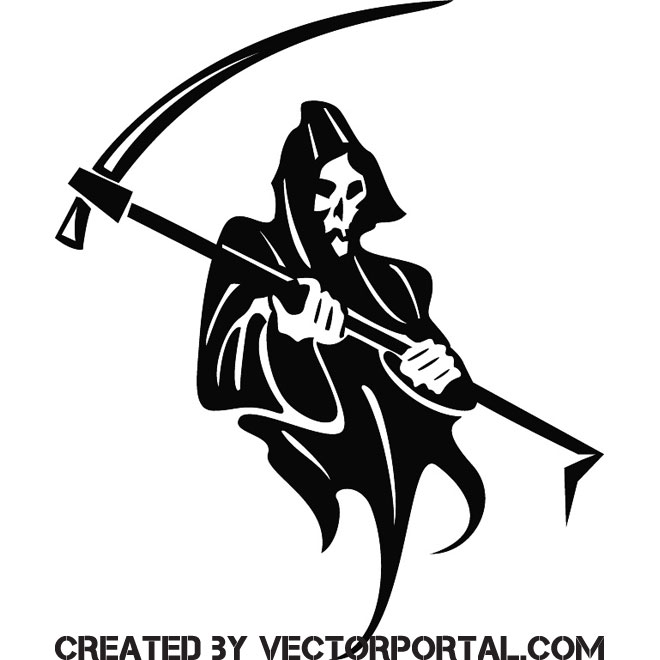 660x660 Death And Scythe Free Vector 123freevectors