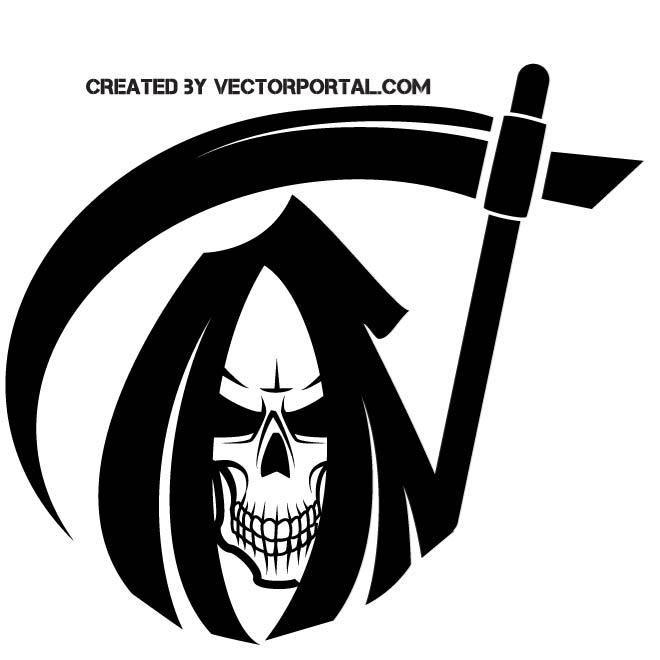 660x660 Skull Of Death Vector Image. Grim Reaper In 2018