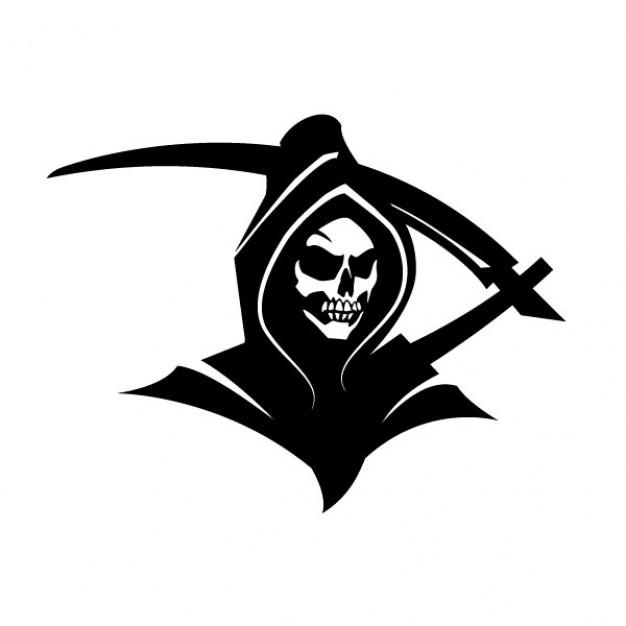 626x626 Black Death Grim Reaper Clip Art Vector Free Download