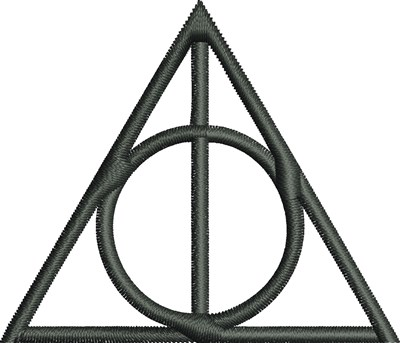 400x343 Deathly Hallows Symbol Embroidery Designs, Machine Embroidery