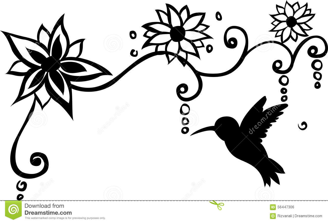 1300x883 Bird Floral Wall Decal Vector Illustration Design Spectacular Wall