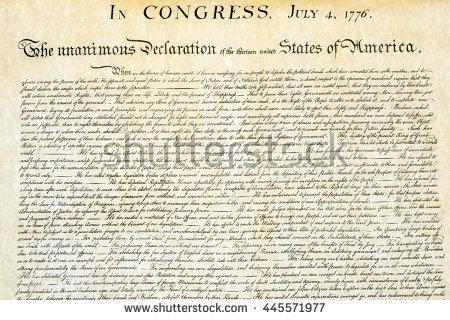 Declaration Of Independence Vector