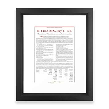 355x355 Society6 Declaration Of Independence Framed Print
