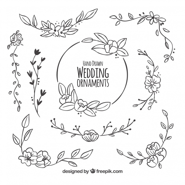 626x626 Floral Pack Of Wedding Decoration Vector Free Download
