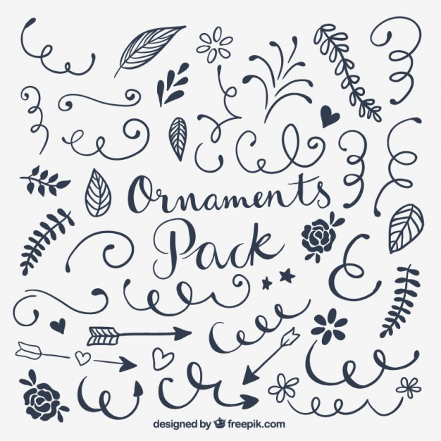 626x626 Ornaments Pack Vector Calligraphy Vector Free Download