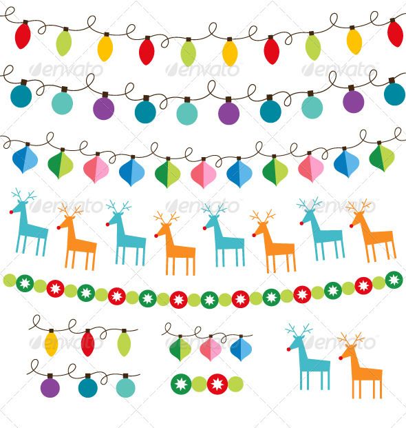 590x621 Christmas Decoration Vector Set. By Lattesmile Graphicriver