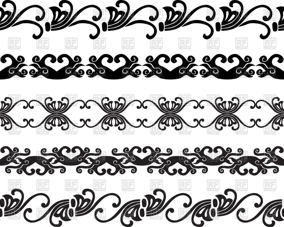 1200x960 Set Of Decorative Borders Vector Image Vector Artwork Of Borders