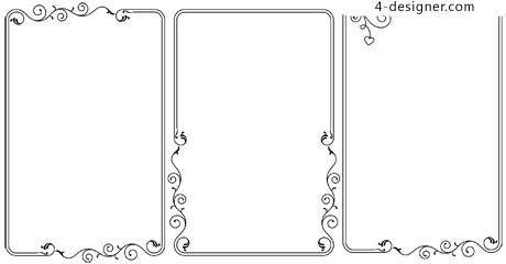 460x240 4 Designer Decorative Border Vector Material