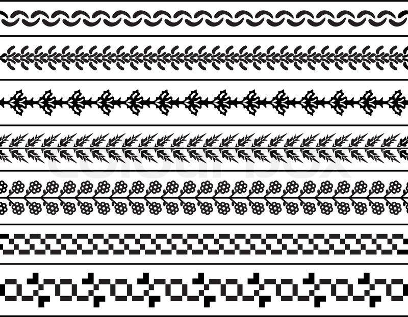 800x622 Vector Decorative Borders Stock Vector Colourbox