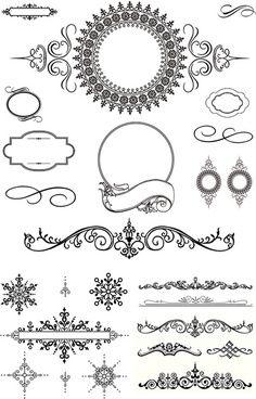 236x368 Black Decorative Border Vector Ideje Black Laces