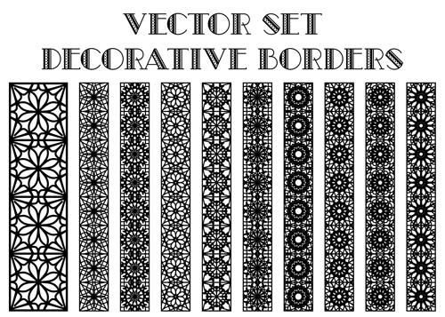 500x357 Black Decorative Border Vector Material Free Download