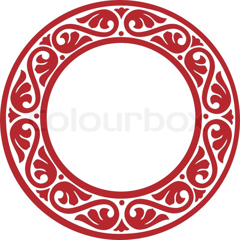 800x800 East European Traditional Decorative Circle Framework With