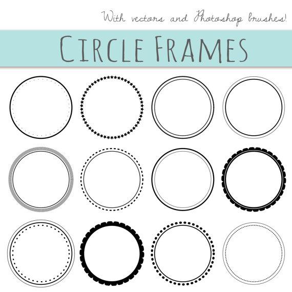 570x570 Clip Art 12 Digital Scrapbook Frames Circle Clipart