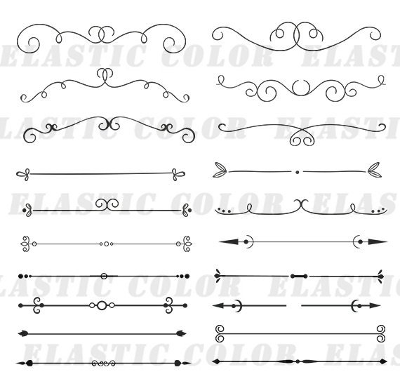 570x550 Divider Svg Clipart Text Divider Vector Decoration Element Etsy