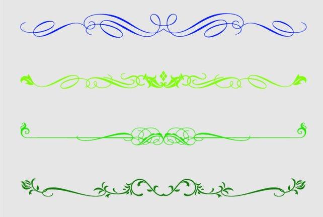 642x431 Multicolour Decorative Text Dividers Colour Set Clipart Text Etsy