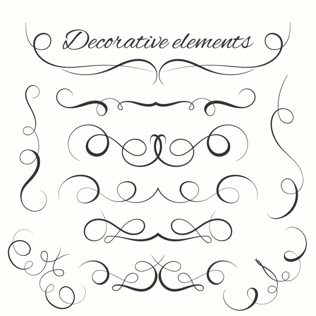 626x626 Hand Drawn Decorative Elements Vector Free Download