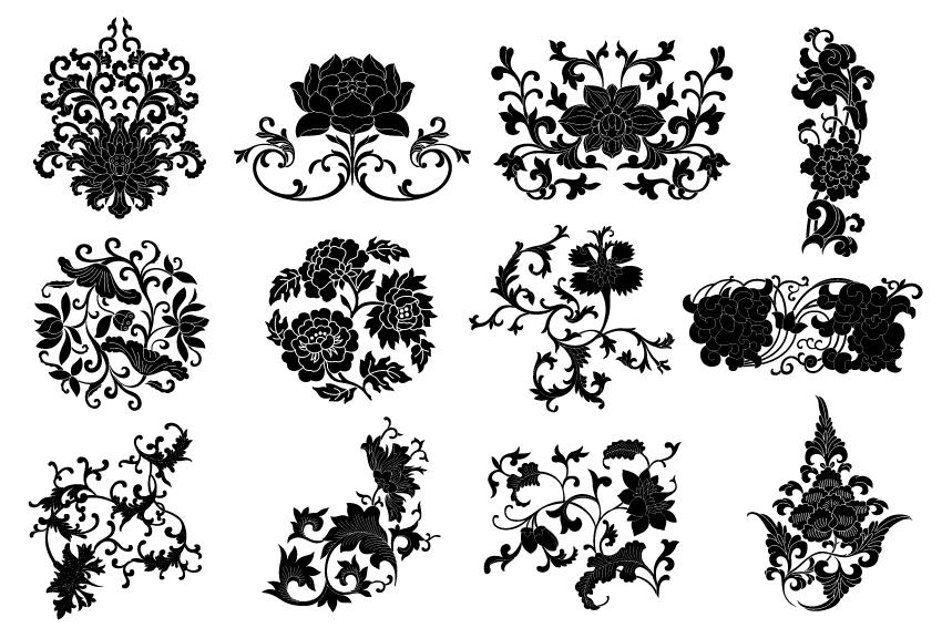 850x567 Plant Flourish Decorative Elements Vector 02 Free Download