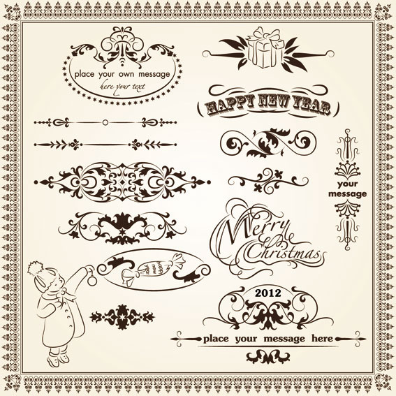 567x567 Vintage Decorative Pattern Borders Elements Vector Free Vector In