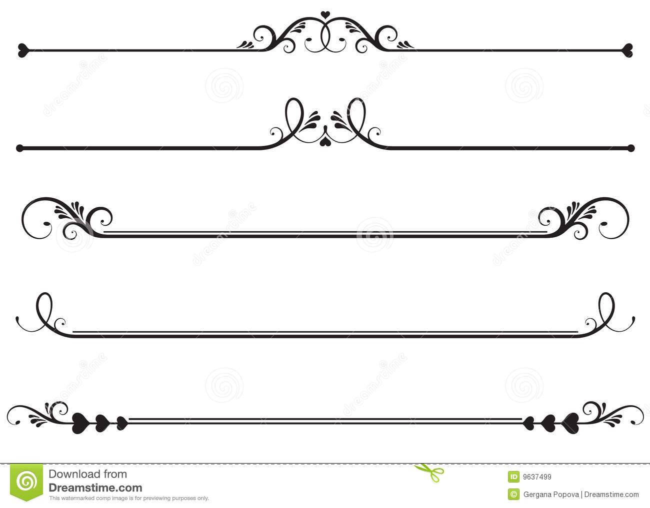 1300x1017 16 Decorative Lines Vector Images Decorative Line Clip, Decorative