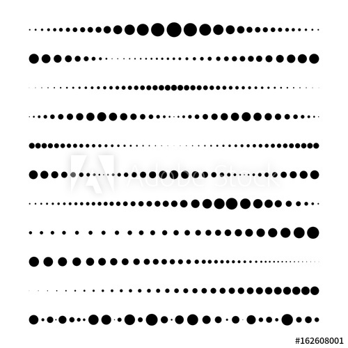 500x500 Lines Made Of Dots. For Brushes, Decorative Elements, Dividing