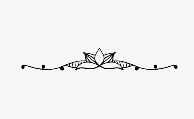 650x400 Lotus Decorative Lines Dividing Lines, Lotus, Line, Decoration Png