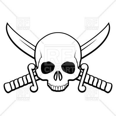 400x400 Decorative Scroll Clip Art Free Lovely Skull With Crossed Sabers