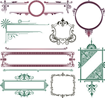 340x318 Decorative Scroll Work Border Free Vector Download (27,991 Free