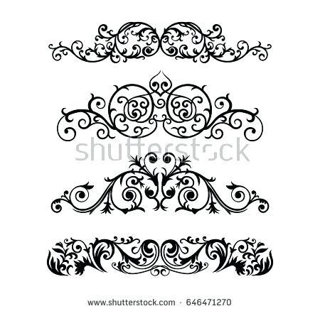 450x438 Ornate Design Ornate Scroll And Decorative Design Elements Vintage