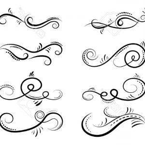 300x300 Stock Vector Decorative Scroll Banner Vector Arenawp