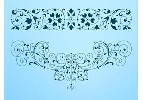 286x200 Decorative Swirls Free Vector Art