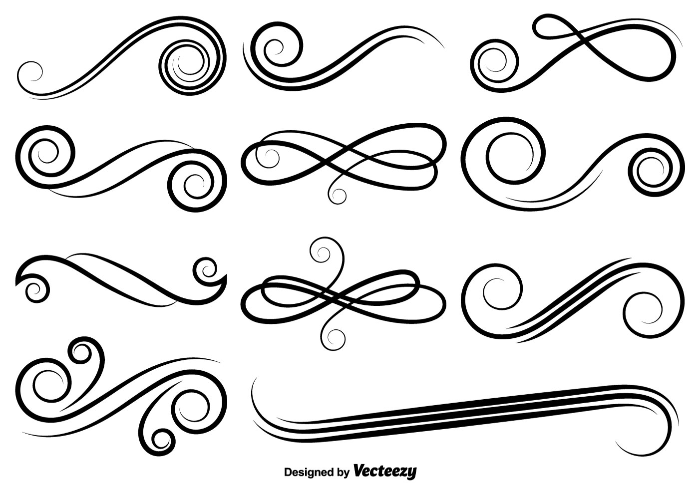 1400x980 Elegant Swirl Free Vector Art