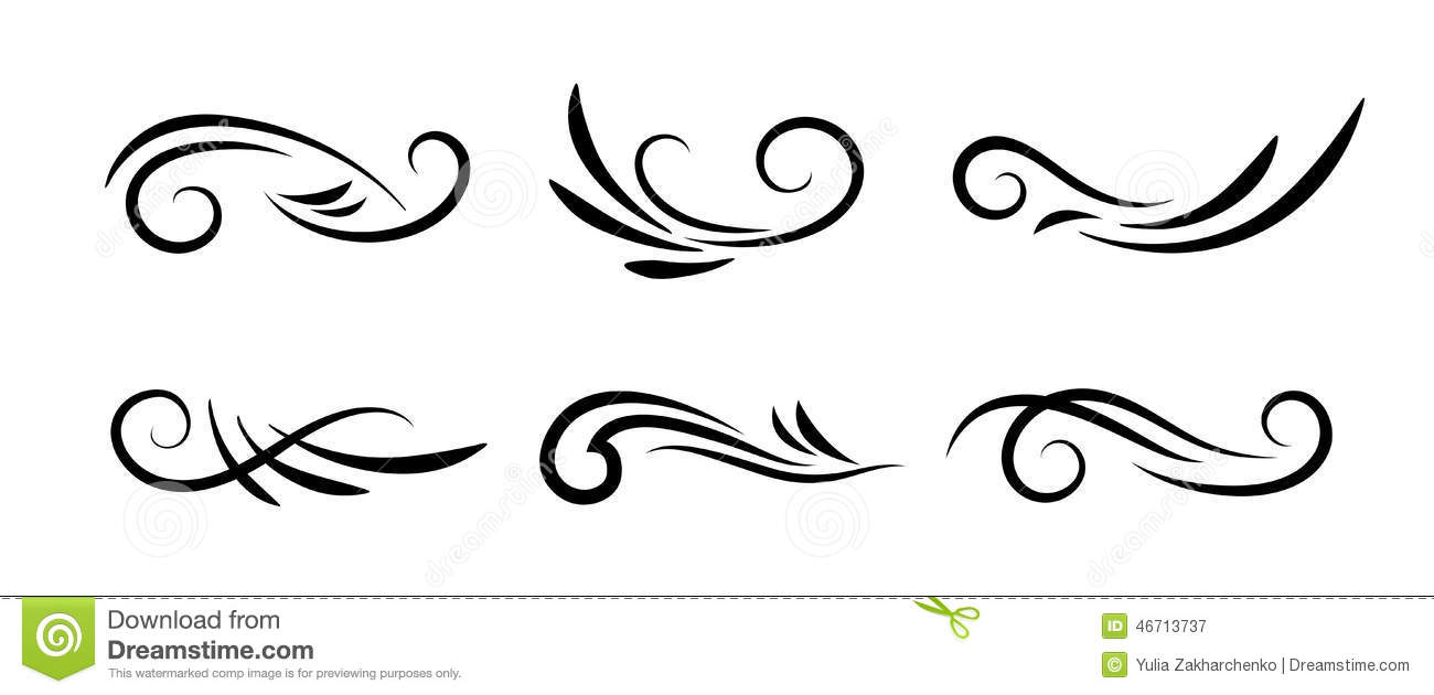 1300x630 Collection Of Free Curled Clipart Decorative Swirl. Download On