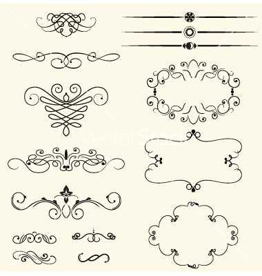 Decorative Swirls Vector Free