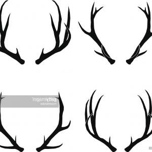 300x300 Hand Drawn Deer Antlers Vector Arenawp
