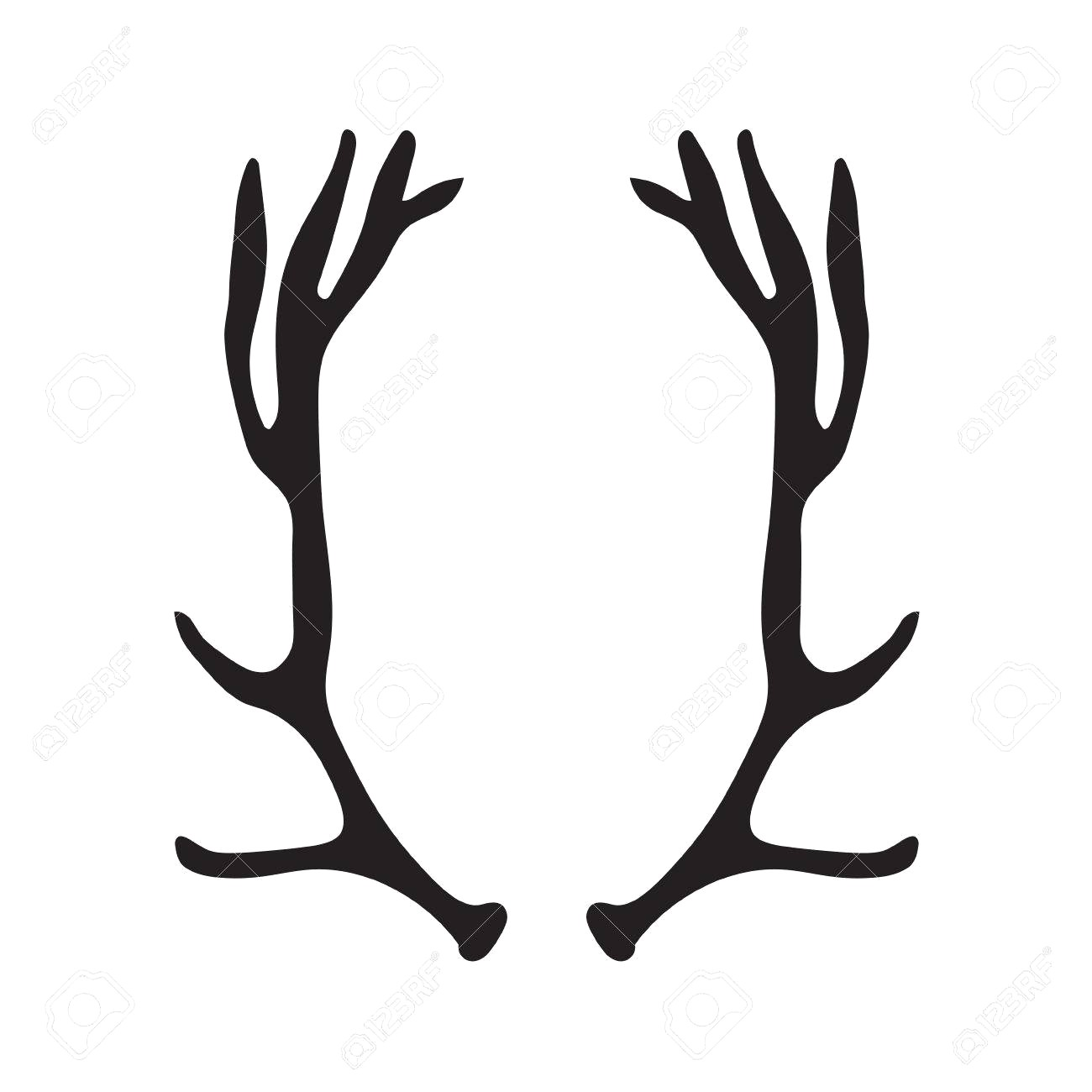 1300x1300 83603255 Black Silhouette Of Deer Antlers Vector Illustration 16
