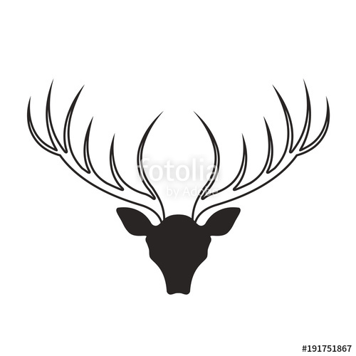 500x500 Deer Antlers Vector Drawing Stock Image And Royalty Free Vector