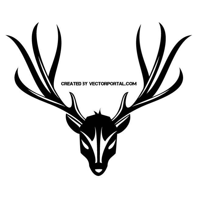 660x660 Deer Skull And Antler