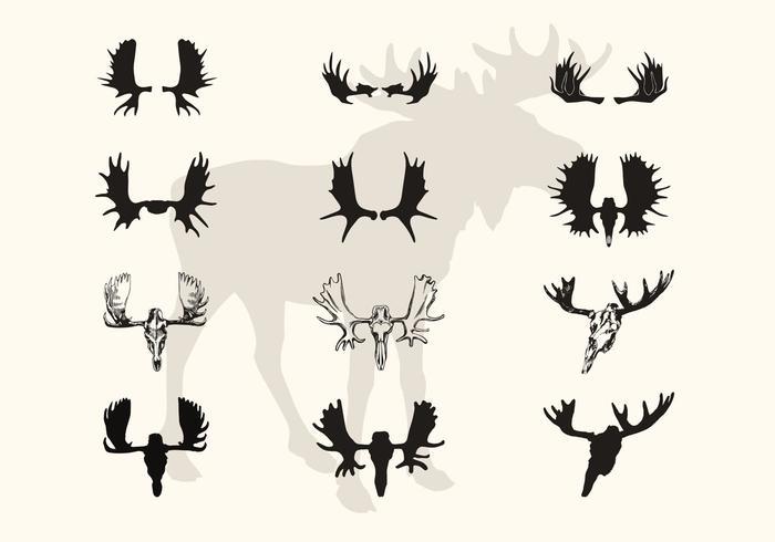 700x490 Deer Skull Free Vector Art