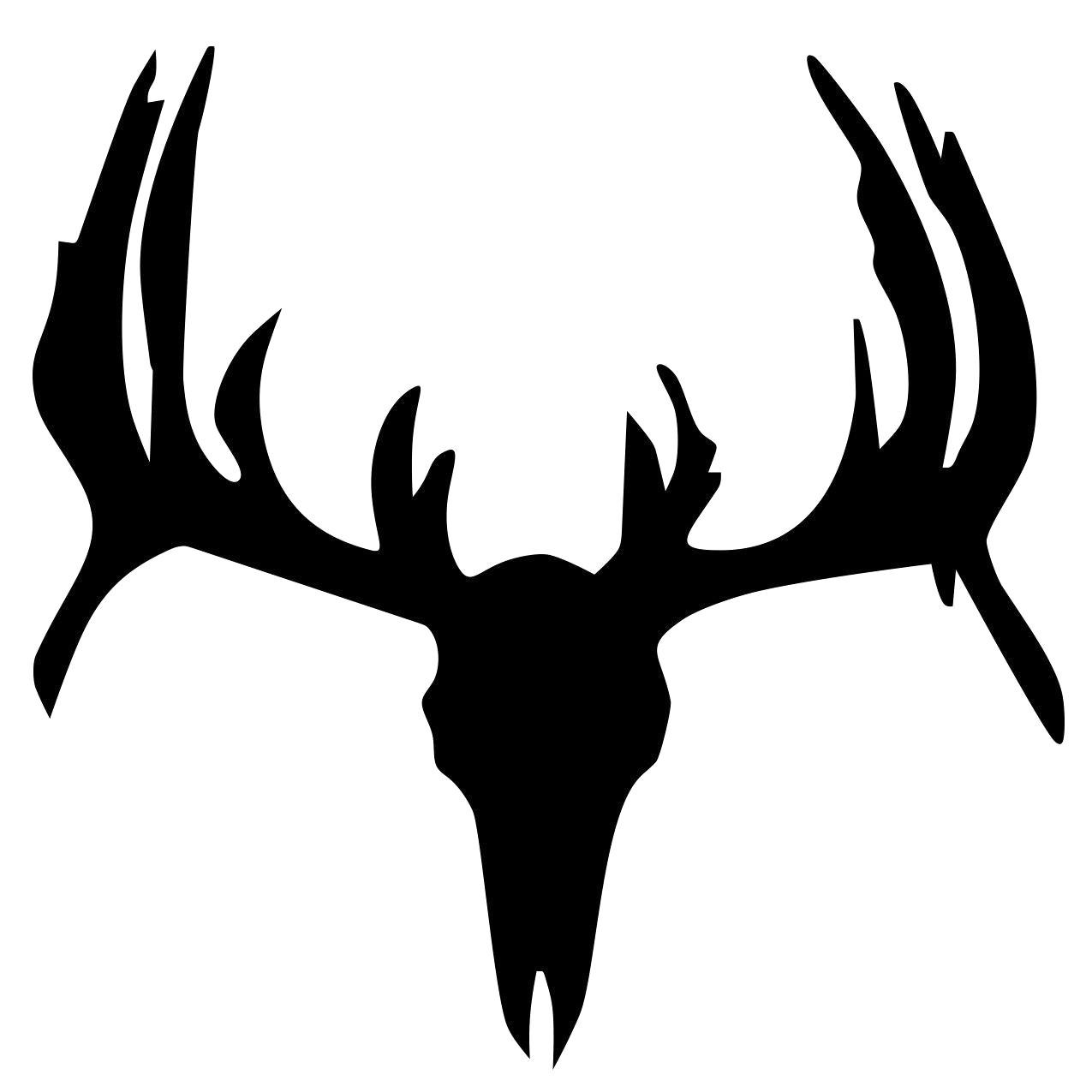 1275x1275 Deer Skull Silhouette Vector 16