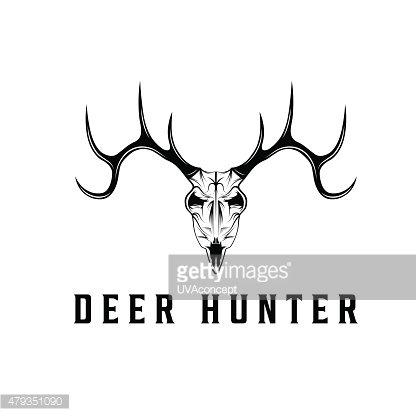 416x416 Deer Skull Vector Design Template Premium Clipart