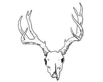 340x270 Deer Skull Svg Etsy