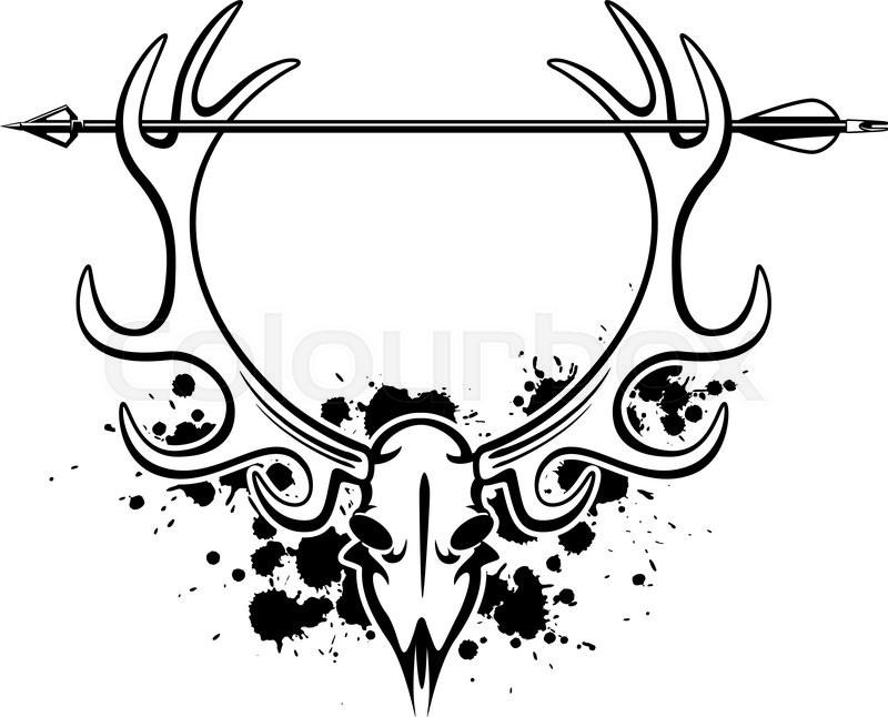 800x646 Hunting Arrow And Deer Skull Stock Vector Colourbox