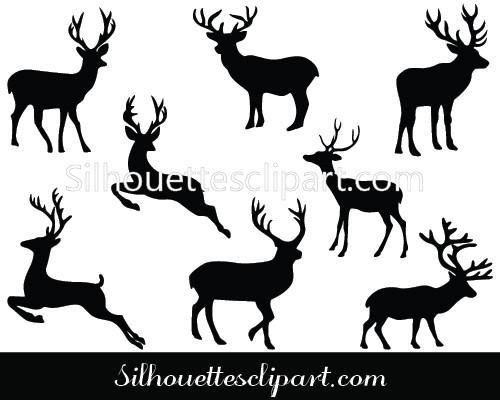 500x400 Deer Vector Graphics Download Deer Silhouette Silhouettes Vector