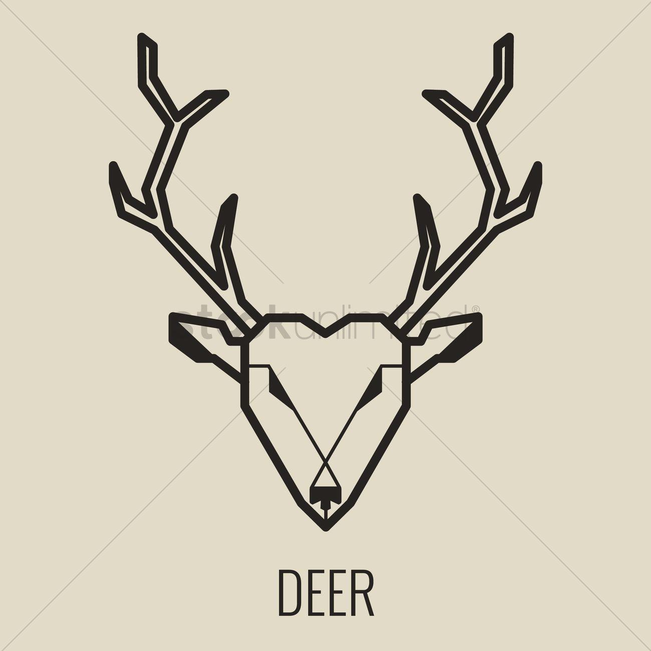 1300x1300 Deer Vector Image