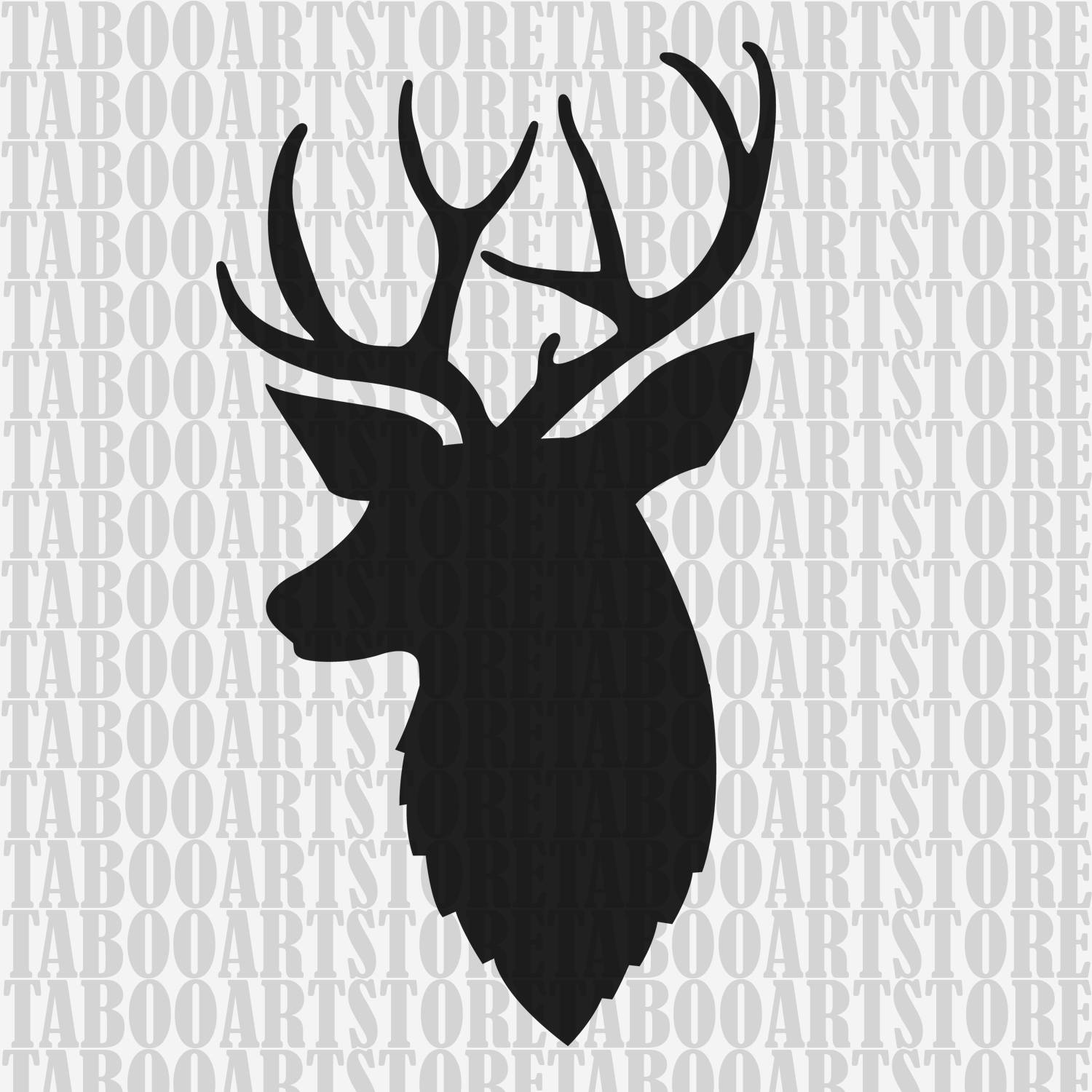1500x1500 Deer Head Svg Deer Eps Deer Silhouette Hunting Svg Deer Etsy