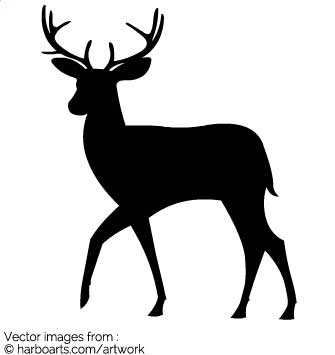 335x355 Download Silhouette Of A Deer