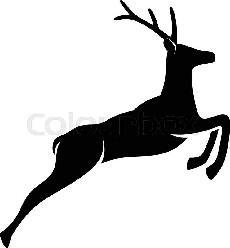 742x800 Jumping Deer